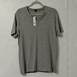 Theory V-Neck T-Shirt Top Gray Medium